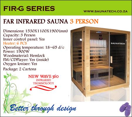 Far Infrared Sauna 3 Person G-series
