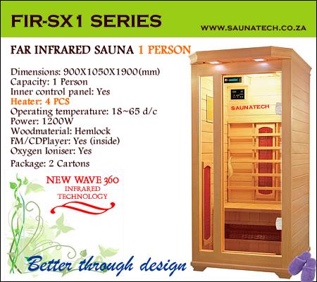 Far infrared Sauna - 1 Person S-series