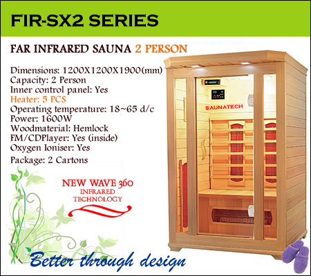 Far infrared Sauna - 2 Person S-series