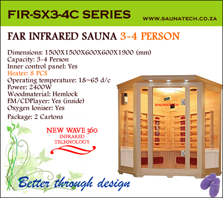 Far Infrared Sauna 3-4 Person Corner S-series