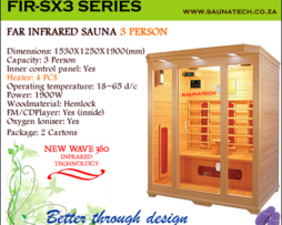 Far infrared Sauna - 3 Person S-series