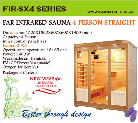 Far infrared Sauna - 4 Person S-series