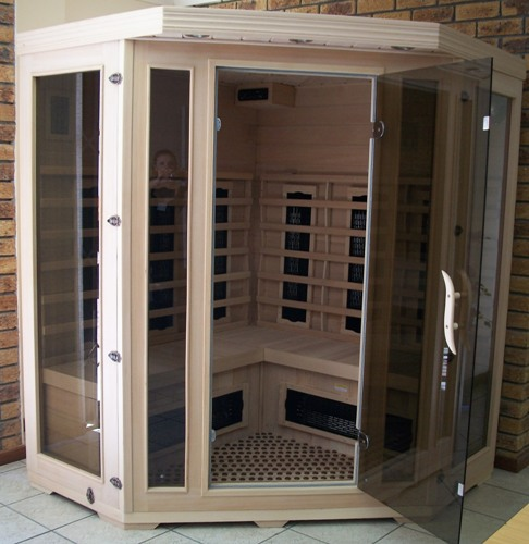 Far Infrared Sauna 3 4 Person Corner S Series Sauna Tech