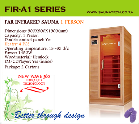 Far Infrared Sauna 1 Person A-series