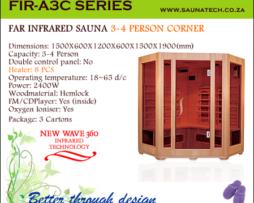 Far Infrared Sauna 3-4 Person corner A-series