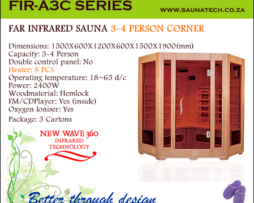 Far Infrared Sauna 3-4 Person corner A-series