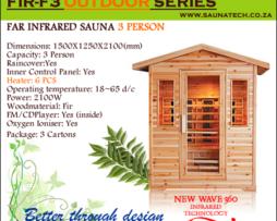 3 Person Far infrared Outdoor sauna 021 5567203