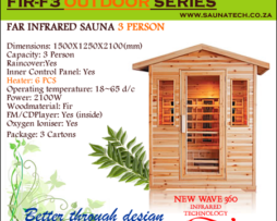 3 Person Far infrared Outdoor sauna 021 5567203