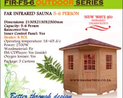 5-6 Person Outdoor Far Infrared Sauna