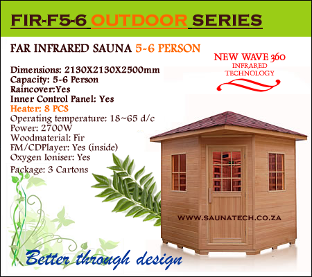 5-6 Person Outdoor Far Infrared Sauna
