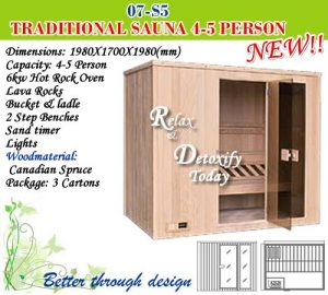 HOT ROCK SAUNAS 4.5 PERSON TRADITIONAL South Africa 021 5567203