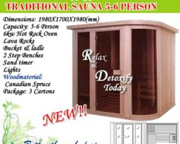 Hot Rock saunas 5-6 PERSON TRADITIONAL